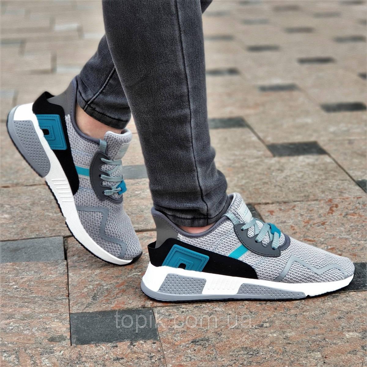 12687c786 Стильные женские кроссовки сетка серые силиконовые вставки, удобные на  весну лето (Код: 1369а