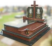 Эксклюзивный двойной гранитный надгробный памятник  Модель  D-04