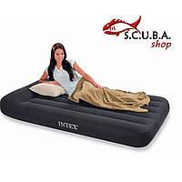 Односпальный надувной матрас суперкласса Intex 66767 с подголовником (99 см х 191 см х 30 см)