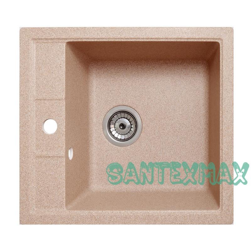 Мийка гранітна для кухні Solid Бриз пісок 51.5x46