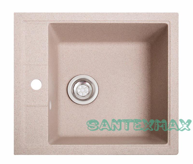 Мойка гранитная для кухни Solid Бриз розовый 51.5x46