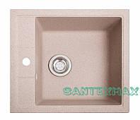 Мойка гранитная для кухни Solid Бриз розовый 51.5x46, фото 1