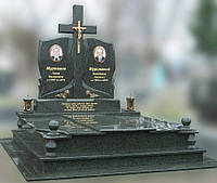 Эксклюзивный двойной гранитный надгробный памятник  Модель  D-09