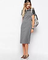 Стильное серое платье, фото 1