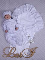 """Летний набор на выписку """"Мечта"""" для новорожденной девочки. Белый"""
