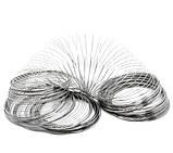 Металлическая проволока память платина для рукоделия размер 60мм, фото 2