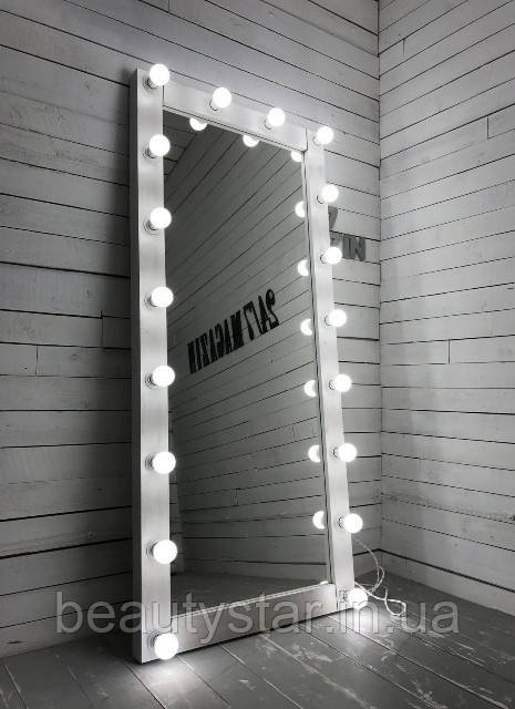 Зеркало LIGHT white