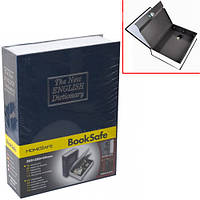 Книга, книжка сейф на ключе, металл, английский словарь 240х155х55мм