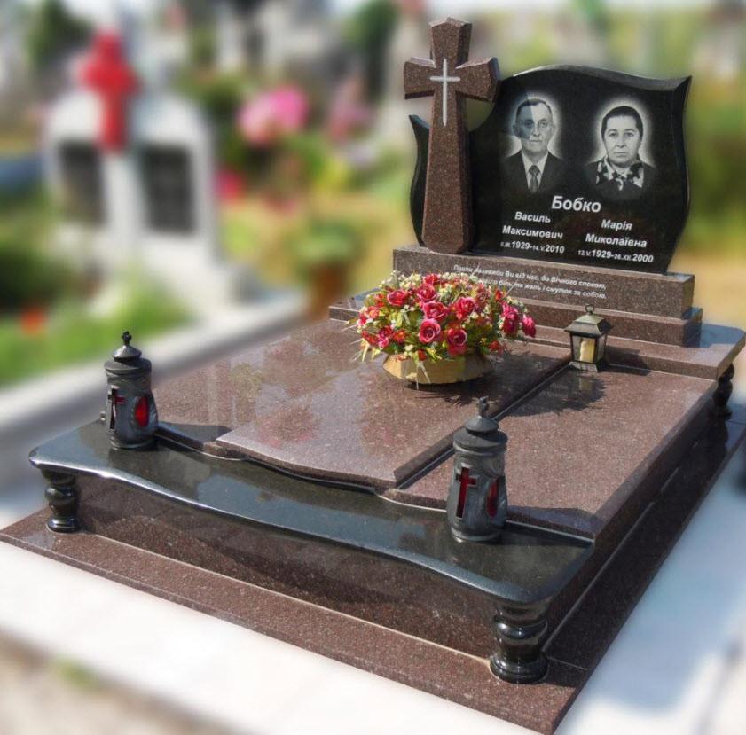 Эксклюзивный двойной гранитный надгробный памятник  Модель  D-22