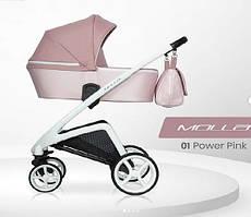 Дитяча універсальна коляска  Riko Molla 01 Powder Pink ( Люлька+рама) Ріко Молла 01 (Рожева)
