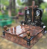 Эксклюзивный двойной гранитный надгробный памятник  Модель  D-25