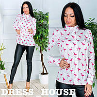 Стильная рубашка Фламинго, 913-020