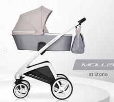 Дитяча універсальна коляска  Riko Molla 03 Stone (Люлька + рама) Ріко Молла 03 (Сіра)