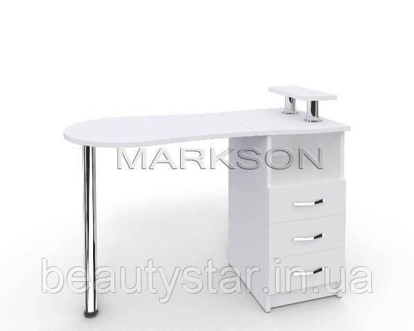 """Стол для маникюрного кабинета M102 """"Эстет №2"""" Маникюрный стол для салонов красоты белый"""