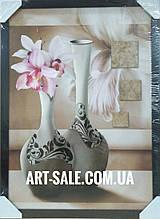 Картина орхидеи в вазе
