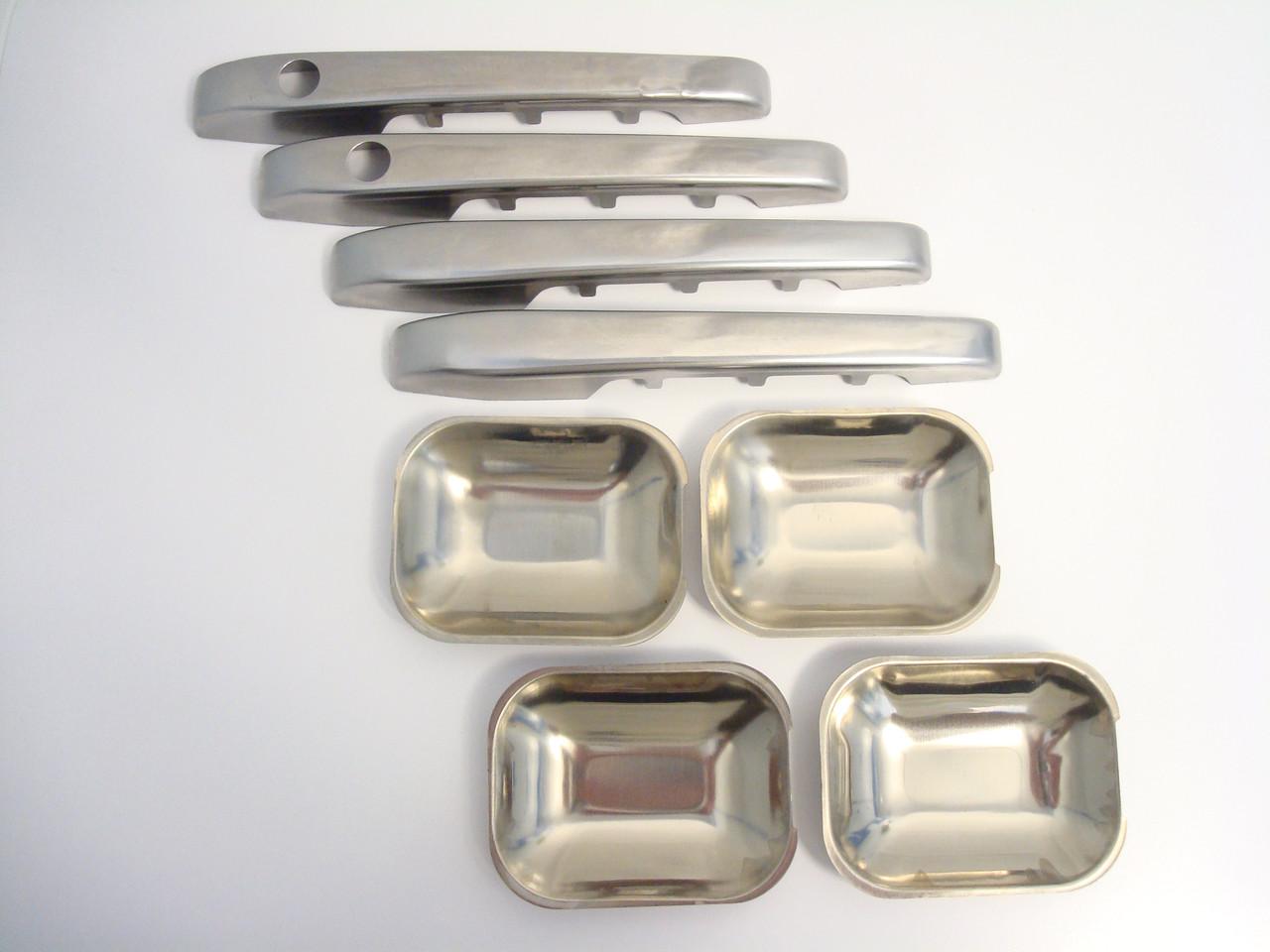 Комплект накладок з нержавіючої сталі на автомобільні дверні ручки ВАЗ 2109 INTERPLAST