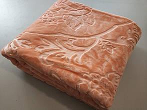 Плед акриловий з тисненням Elway персиковий (160х210)