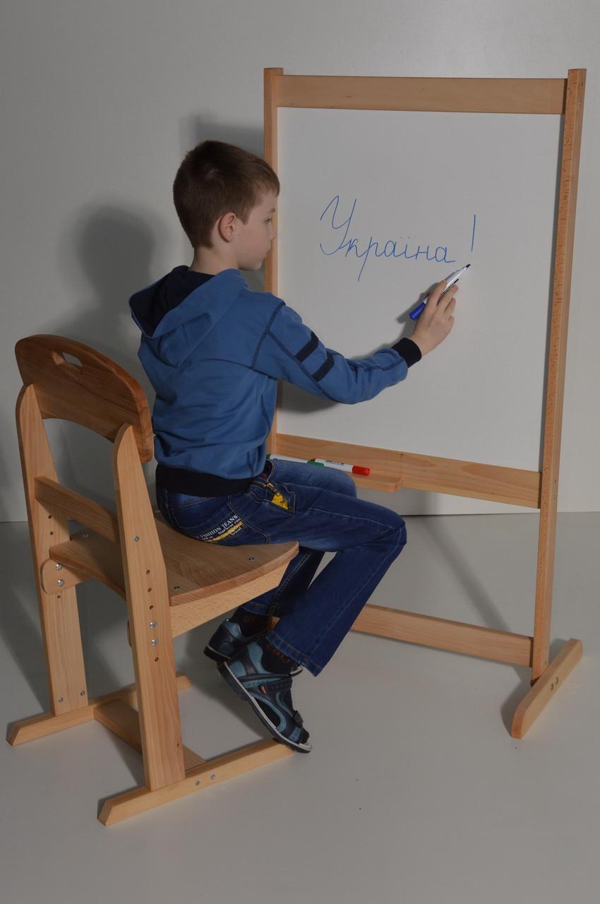 Мольберт детский Маэстро немагнитный, двухсторонний. Доска для рисования двухсторонняя. РК16