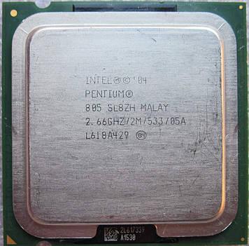 Процессор Intel Pentium D 805 2.66GHz/2M/533 (SL8ZH) s775, tray