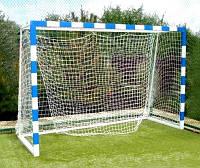 Ворота для мини-футбола или гандбола разборные 3000х2000 полимерно-порошковая покраска с полосами , фото 1