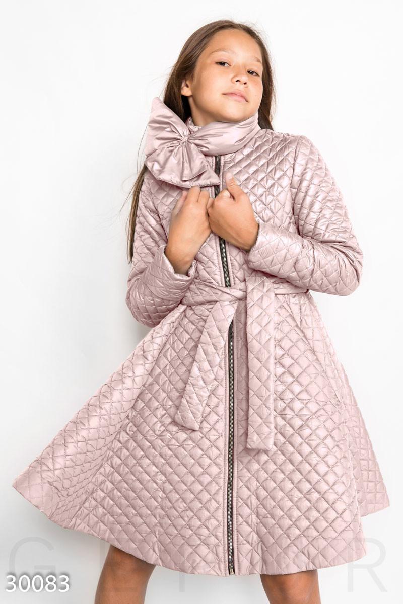 7e5186cb89e Весеннее стеганое пальто-платье на девочку 30083 - Интернет-магазин