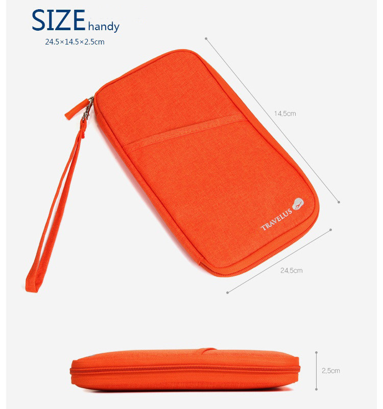 Органайзер для документов большой Travelus Big 25,5х15х2 см Оранжевый (01061/06)