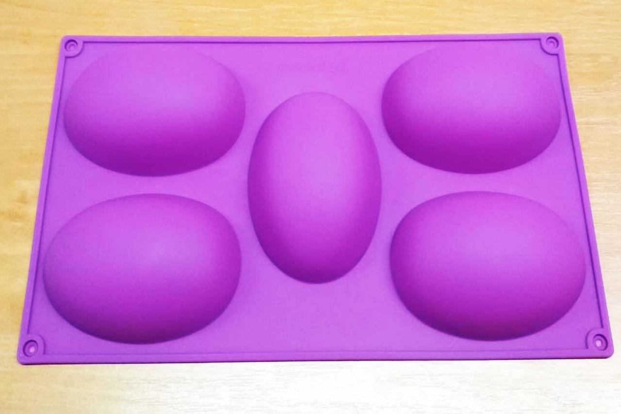 Силиконовая форма яйцо, 5 ячеек