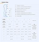 Колготи жіночі компр з відкритим  миском, фото 3