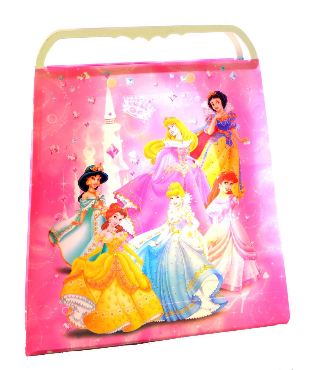 """Пакет подарочный пластиковый """"Принцессы"""""""