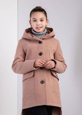 Детское пальто демисезонное для девочки Мила, размеры 134-152, фото 2