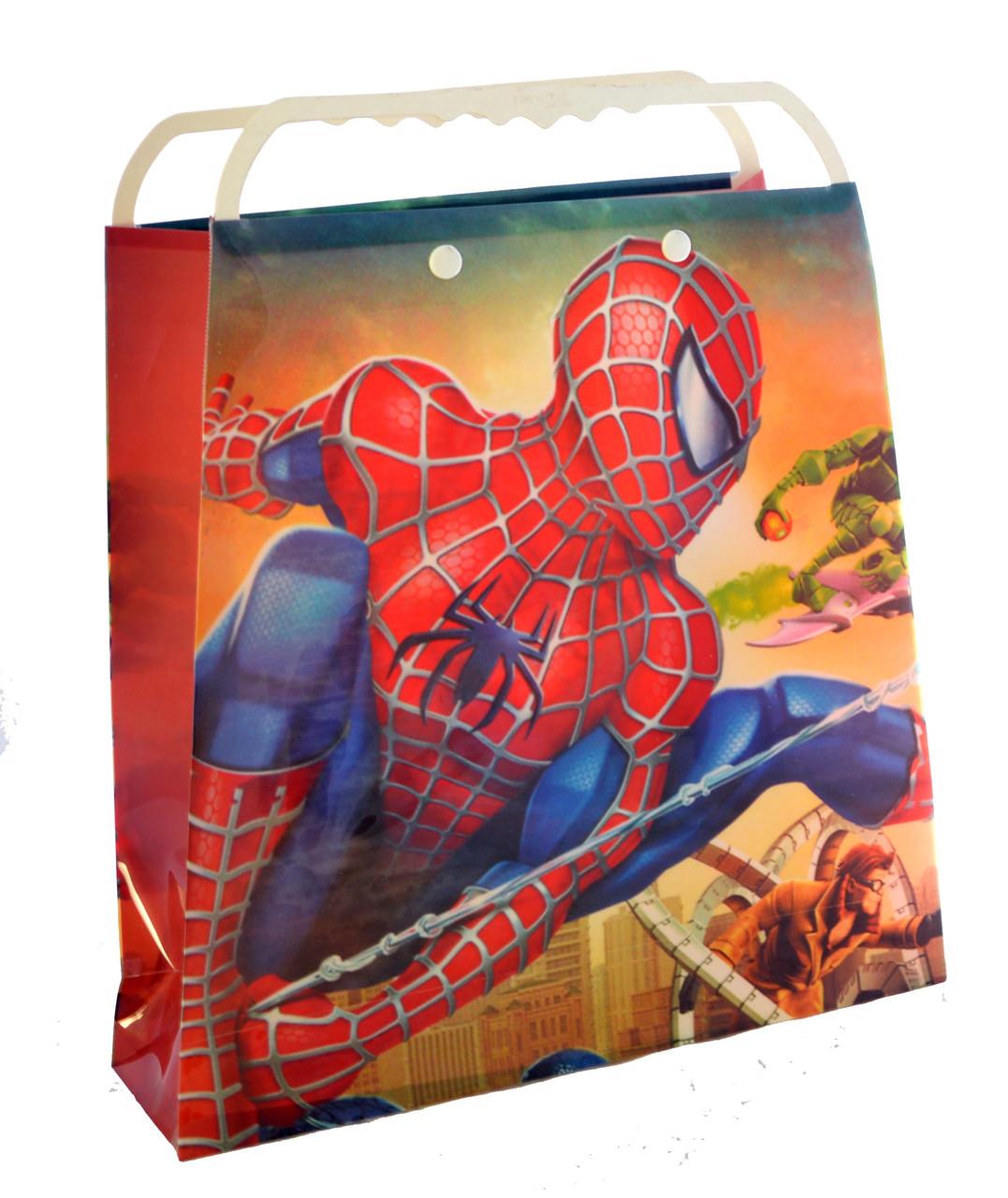 """Пакет подарочный пластиковый """"Человек Паук"""""""