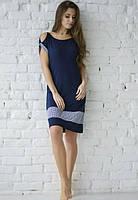 Жіноча сорочка Wiktoria модель 613 синя