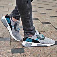 Стильные женские кроссовки сетка серые силиконовые вставки, удобные на весну лето (Код: Б1369а)