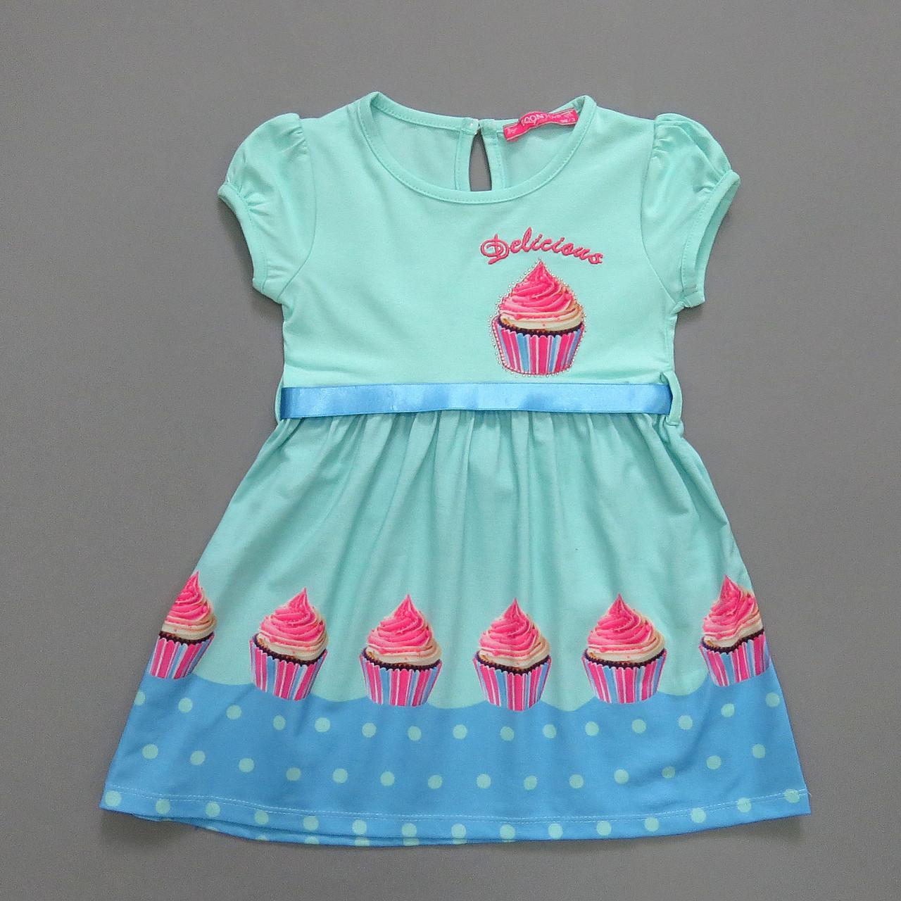 """Летнее платье """"Кексик"""" для девочки. 104 см"""