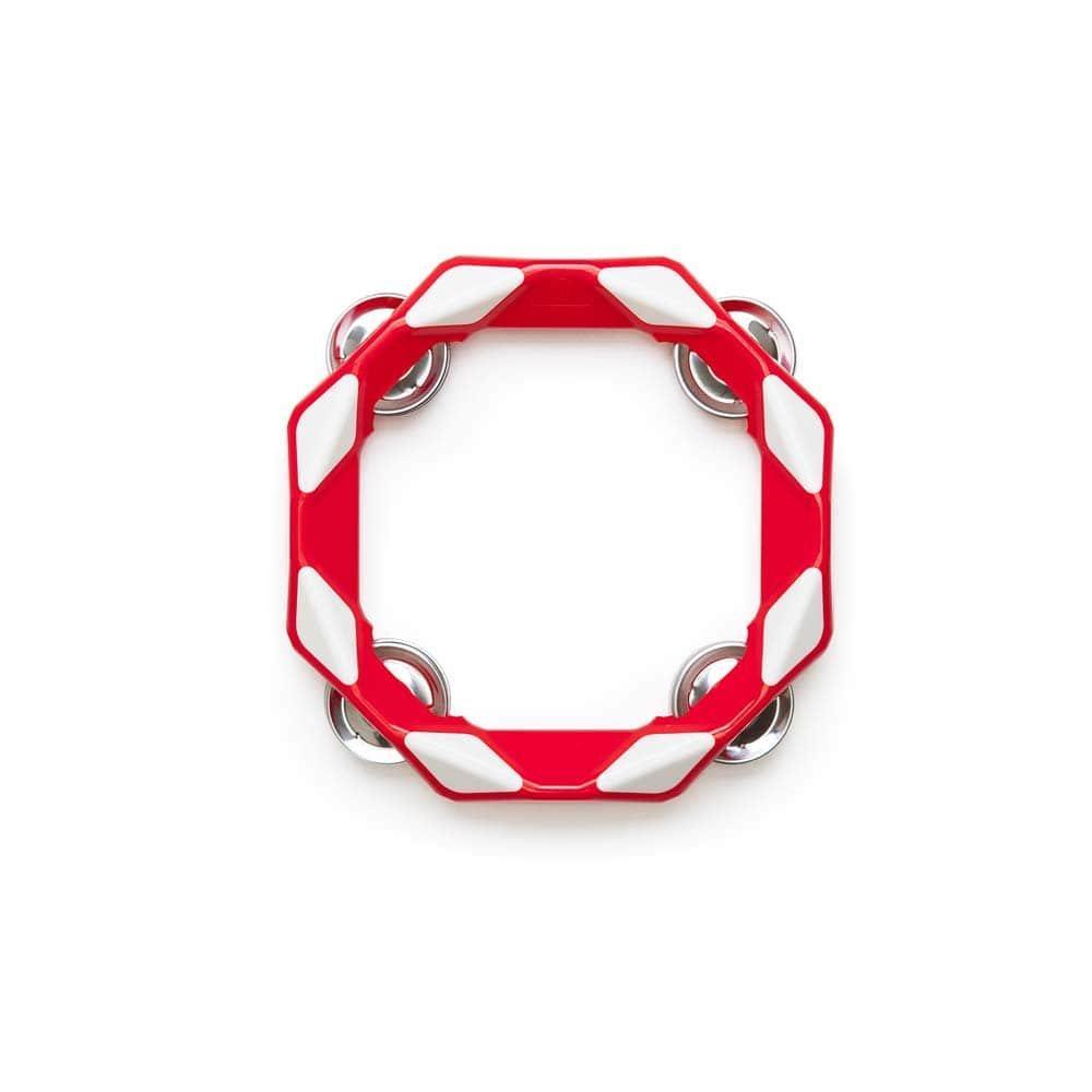 Тамбурин (красный). Детский музыкальный инструмент (Kid O 10437)