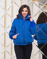 Куртка женская / плащевка, холофайбер / Украина 47-2222, фото 1