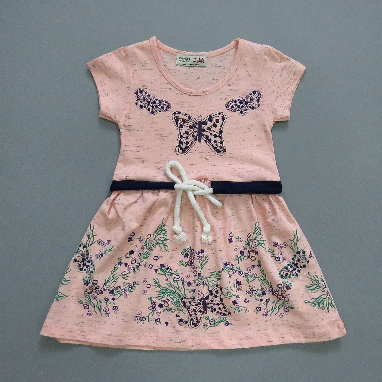 """Летнее платье """"Бабочки"""" для девочки. 98-104 см"""
