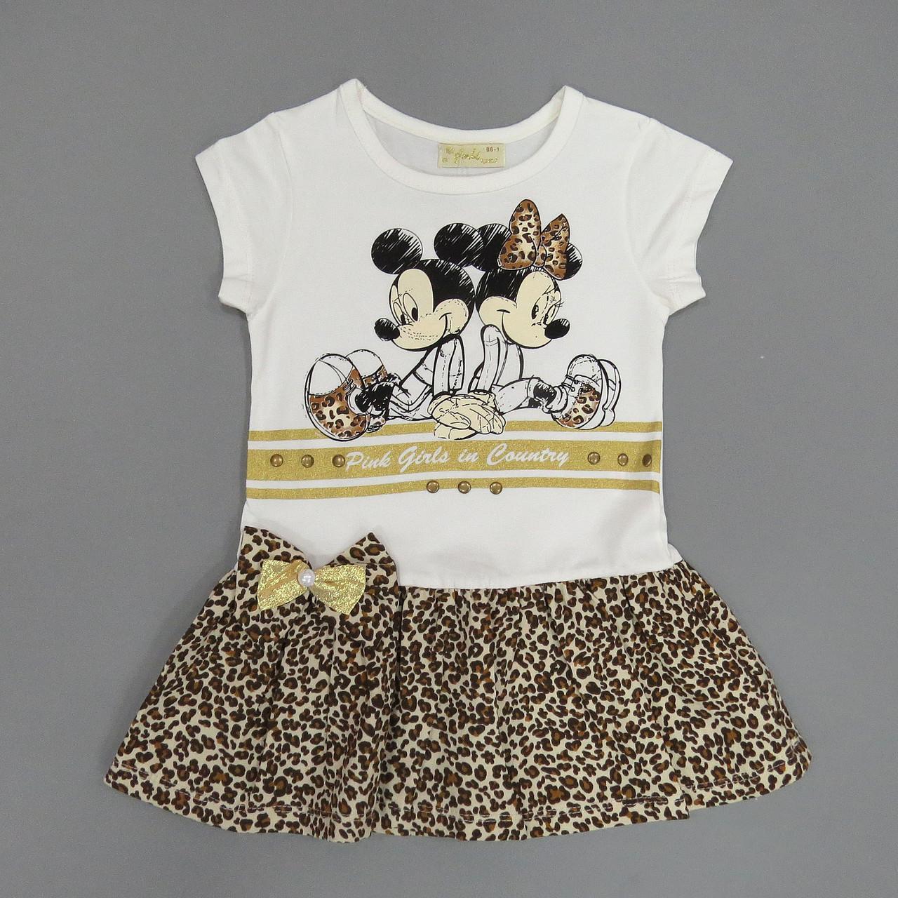 Летнее платье Mickey&Minnie Mouse для девочки. 86, 92 см