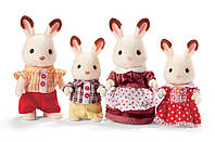Набор Сильваниан Фемилис семья Шоколадных Кроликов Calico Critters Hopscotch Rabbit Family