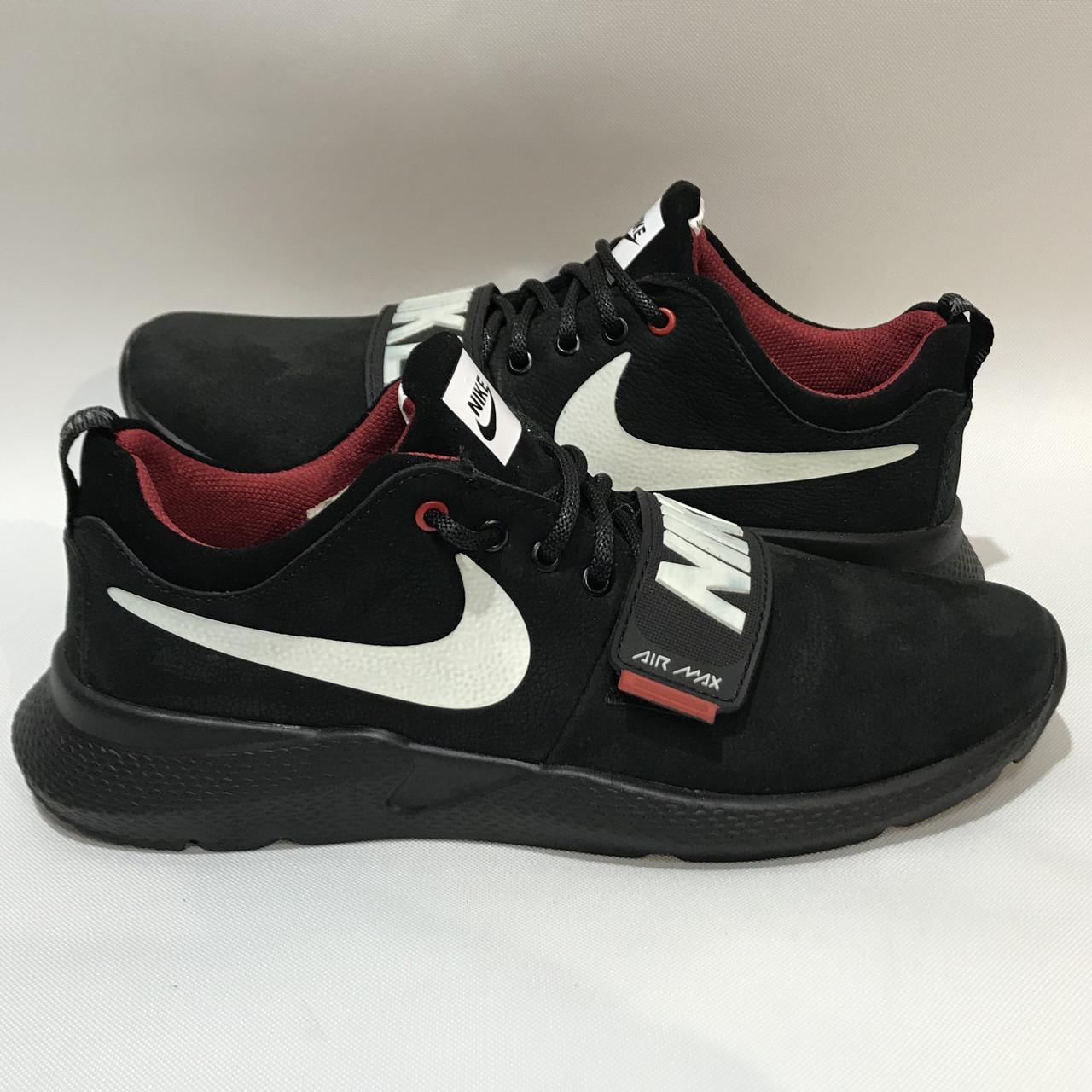 Мужские кроссовки Nike /  черные кожа набук 40 р.