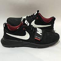Мужские кроссовки Nike /  черные кожа набук 40 р., фото 1