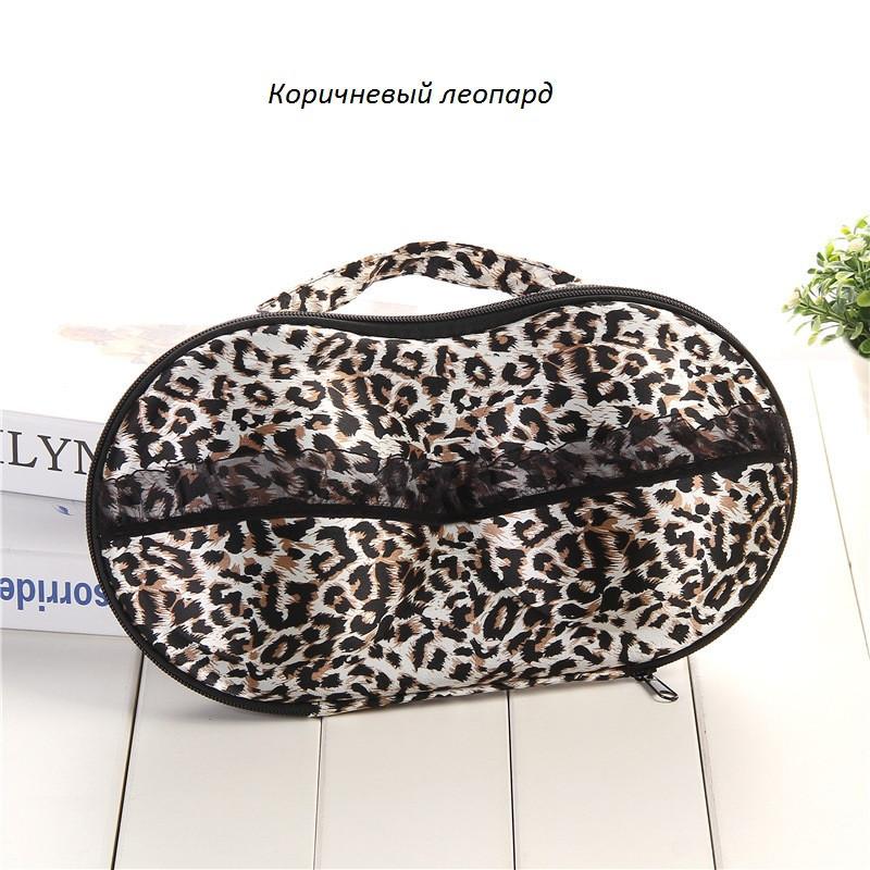 """Органайзер для белья """"Бюстгальтер""""коричневый леопард 01052/10"""