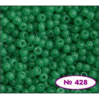 Чешский бисер Preciosa 428-52240,  зеленый   алебастровый