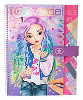 ТОР-Model Розмальовка Special Desig Book  ( Разукрашка  с наклейками для творчества ТОП Модель Гламур)