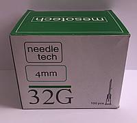 Иглы для мезотерапии Needletech  32G 4 mm