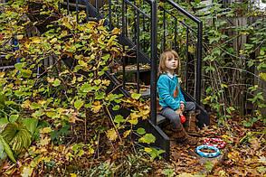 Тамбурин (голубой). Детский музыкальный инструмент (Kid O 10438), фото 2
