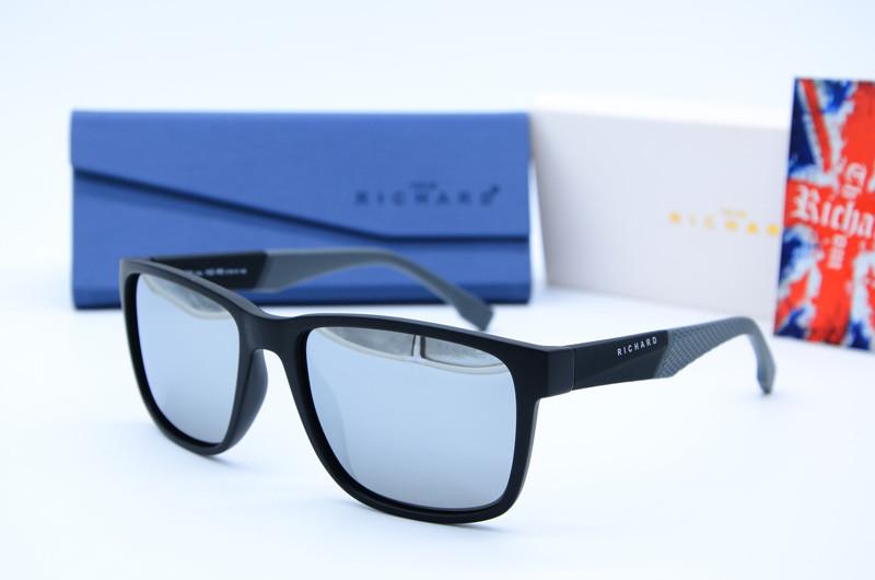 Прямокутні чоловічі фірмові сонцезахисні окуляри 9324 дзеркало