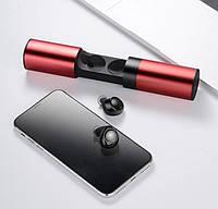 Наушники S2 беспроводные, гарнитура Bluetooth с кейсом Power Bank