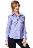 e0cfbc3eef5 Женская рубашка лавандового цвета с длинным рукавом. Модель 444. Размеры  42-52