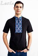 Чоловіча вишиванка Козацька синя